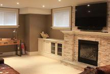 Family Room Ideas / Various pictures showing family room and recreational room design