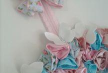 guirlanda de flores enfeite de porta de maternidade