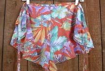 1970s wrap around shorts
