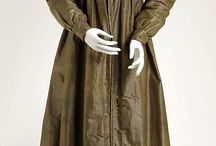 1820s Green Silk Gown