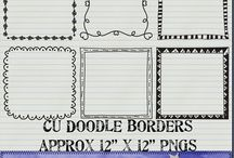 Fonts and borders / by Shari Copeland