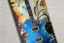 Music Instruments and Musical Notes Art