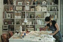 |  Ateliers d'artistes | / Ateliers, bureaux, lieux de création. Décoration