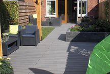 Composiet vlonderplanken en terrasplanken / De beste en goedkoopste composiet vlonderplanken en terrasplanken bestelt u online bij allesvooruwtuin.nl