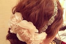 ヘア 白ドレス
