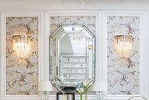 Wallpaper and Moulding
