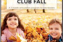 Fall / Fall speech and language activities