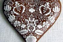 Gingerbread heart.