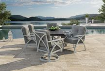 Ventura Collection / Uncomplicated beauty is found across the CASTELLE VENTURA collection's contemporary styling. The robust crossed line design used in the leg and back details offer modern appeal and a fresh sense of style. Made for today's lifestyle, the CASTELLE VENTURA collection is handcrafted to fit many outdoor living areas.