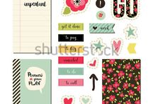 Cards, stickers and printables / My design on the Shutterstock