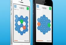 Hexuma for iPhone and iPad / Screenshots from the free puzzle / math game Hexuma for iOS  www.appstore.com/hexuma