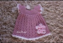 háčkkované detské šaty