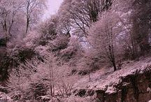 Cascades in the snow January 2015 / Winter Break In Derbyshire