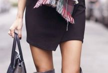 Grey over the knee boot style / Boots