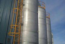Proyecto Depositos de acero inox. de 35000 litros / Depósitos de 35.000 lts fabricados en Acero Inoxidable para la empresa Alkargo - Mungia