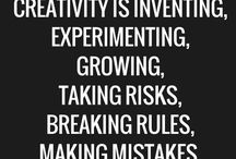 Creativity / This board is all things creative - how to generate creative ideas, what it means to be creative...