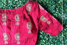 silk saree motif