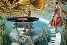 Surrealism, lowbrow art, psychedelia, digital art and  strange creatures ...