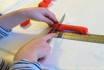 Homeschool Math Measuring / basic measurements and ruler use