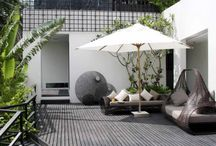 Landscape Design Competition inspiration / Create a low maintenance garden that transforms from day to night with Easy Connect Lighting & Fitrite products.