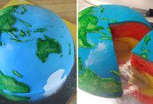 pastel bola mundo