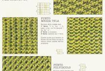 punti e lavori a maglia