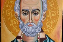 Icon Orthodox / Sfantul Ierarh Nicolae  Artist: Elena TEV