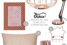 Dulux Colour of the Year 2015... Copper Blush / Everything copper for the home!