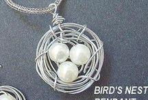 JEWELRY, BIRD'S NEST FOR PENDANTS OR EARRINGS