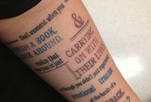 Tattoos: Words / by Mme Bibliothecaire