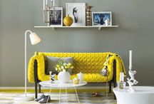 How To Brighten Up Your Grey / Grey is a great base colour to start working with, you can build a beautiful colour palette using layering techniques to feel relaxed and easy in your favourite rooms.  Grey with added bright colours creates the perfect juxtaposition, grey doesn't have to be dull, adding limes and yellows really gives a refreshing look.