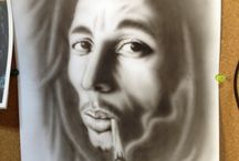 Air brush art / My works.
