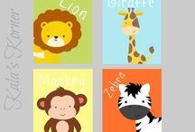 Safari tema barnrum