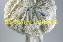 Кружевной фарфор статуэтки Фолкштедт  Antique lace Volkstedt figurines