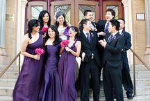 Colour: Fuschia + Grape wedding