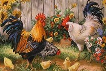 Just Roosters & Chickens!!! / by Barbara Howald Carlan