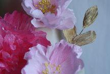 crepe paper flower