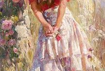 Michael  and Inessa Garmash / Ukrainian artist (1969-