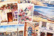 Inspiring watercolors/Вдохновляющие акварели / Watercolor paintings that inspire me)