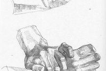 Kresba ruce, nohy