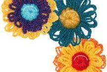 flores telar redondo