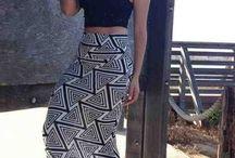 Faldas y crop top
