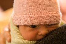 Baby hats knitting