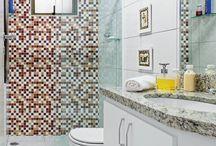 Decoração: Pastilhas Adesivas / As pastilhas adesivas são simples e baratas e pode mudar um ambiente da sua casa, principalmente cozinhas e banheiros.