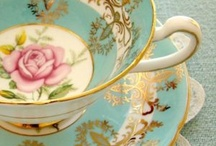 Tea for two.  / There is just something special about drinking from a cup and saucer fact.
