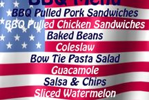 Memorial Day, July 4th , Labor Day / Food ideas, learning, and patriotism.