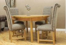 Katie Dining Chair / Killymoon Living Beautiful Katie Dining Chair offers comfort and elegance. With a scroll top finish to the back, this chair is available in 2 designs.