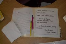 Letter Writing Station / We are Out of School Collaboraters : We love Montessori. But we're not afraid to bring other ideas in if they look like they will work for us. This is a collection of ideas we've seen and liked, and may or may not have used yet!