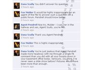 On the Blog - The X-Files Facebook Project / Did you ever wonder what Mulder, Scully, and the entire The X-files gang might have sounded like on Facebook?  I did, so I embarked a few years ago on this fun project. http://www.saharsblog.com/category/the-x-files-facebook-project/