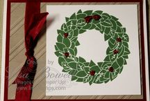 Wonderful Wreath / Cards made using Stampin' Up! Wonderful Wreath stamp set! NEW in the 2013-2014 Holiday catalog!!